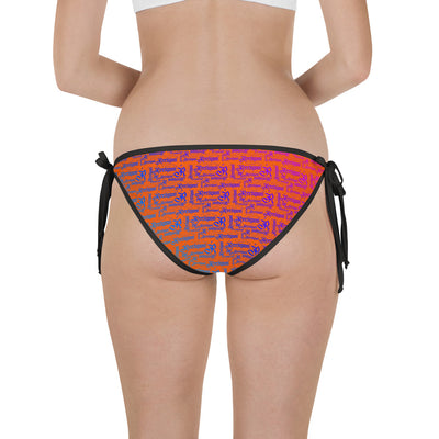 Tiger Orange Reversible Fish Bikini Bottom - Reeligion