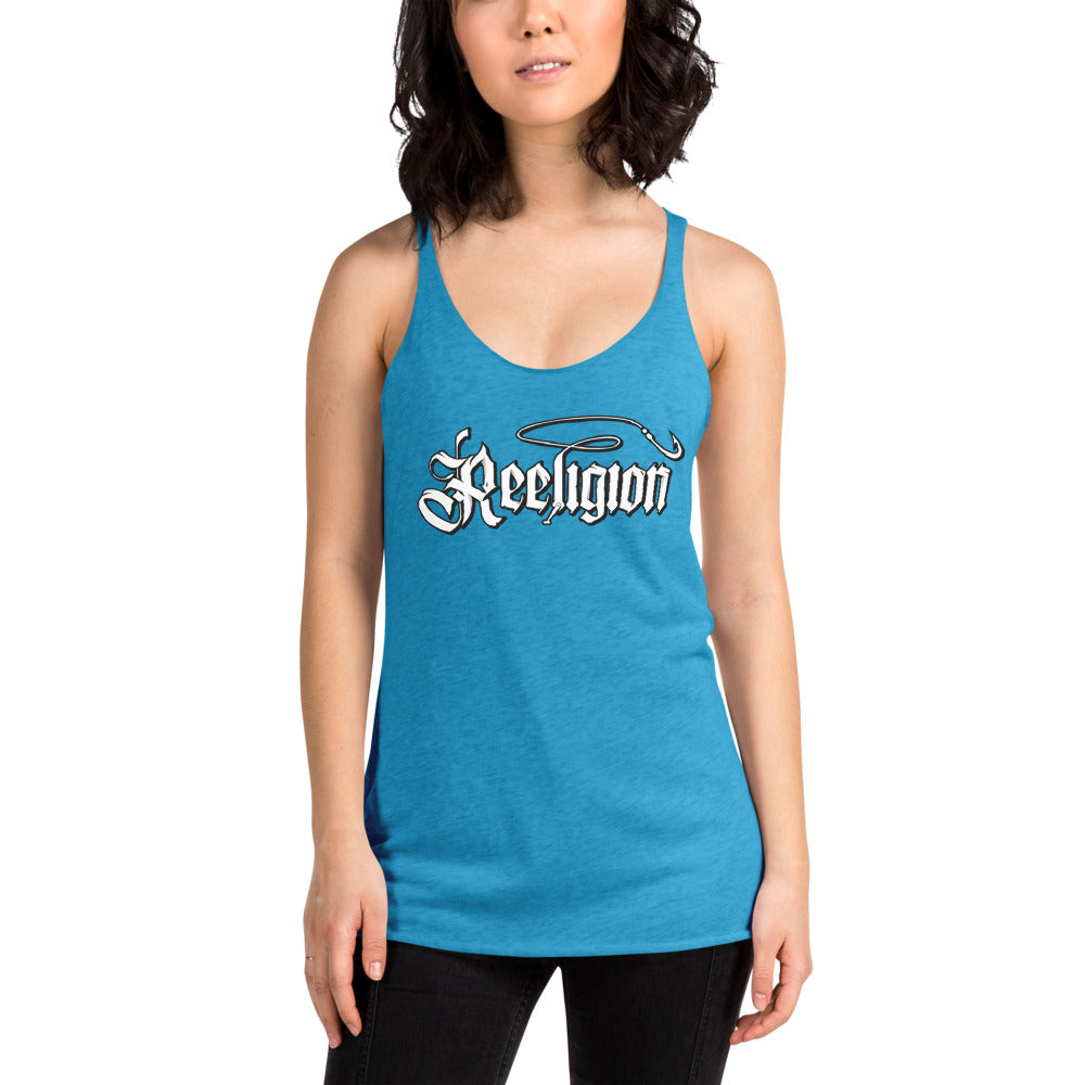 Ladies' Triblend Racerback Fishing Tank Top