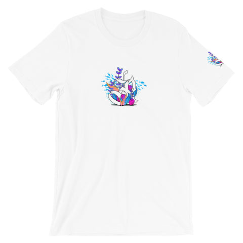 Coral Reef Unisex Cute Fishing Tee - White