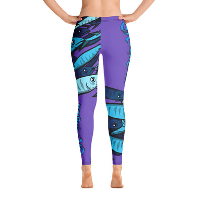 "Royal Purple ""Schools In"" Fishing Leggings - Reeligion"