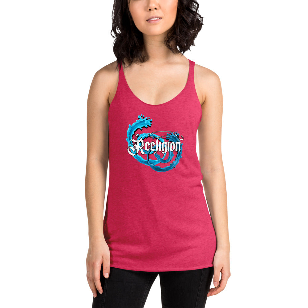Bait Ball Women's Racerback Fishing Tank - Pink
