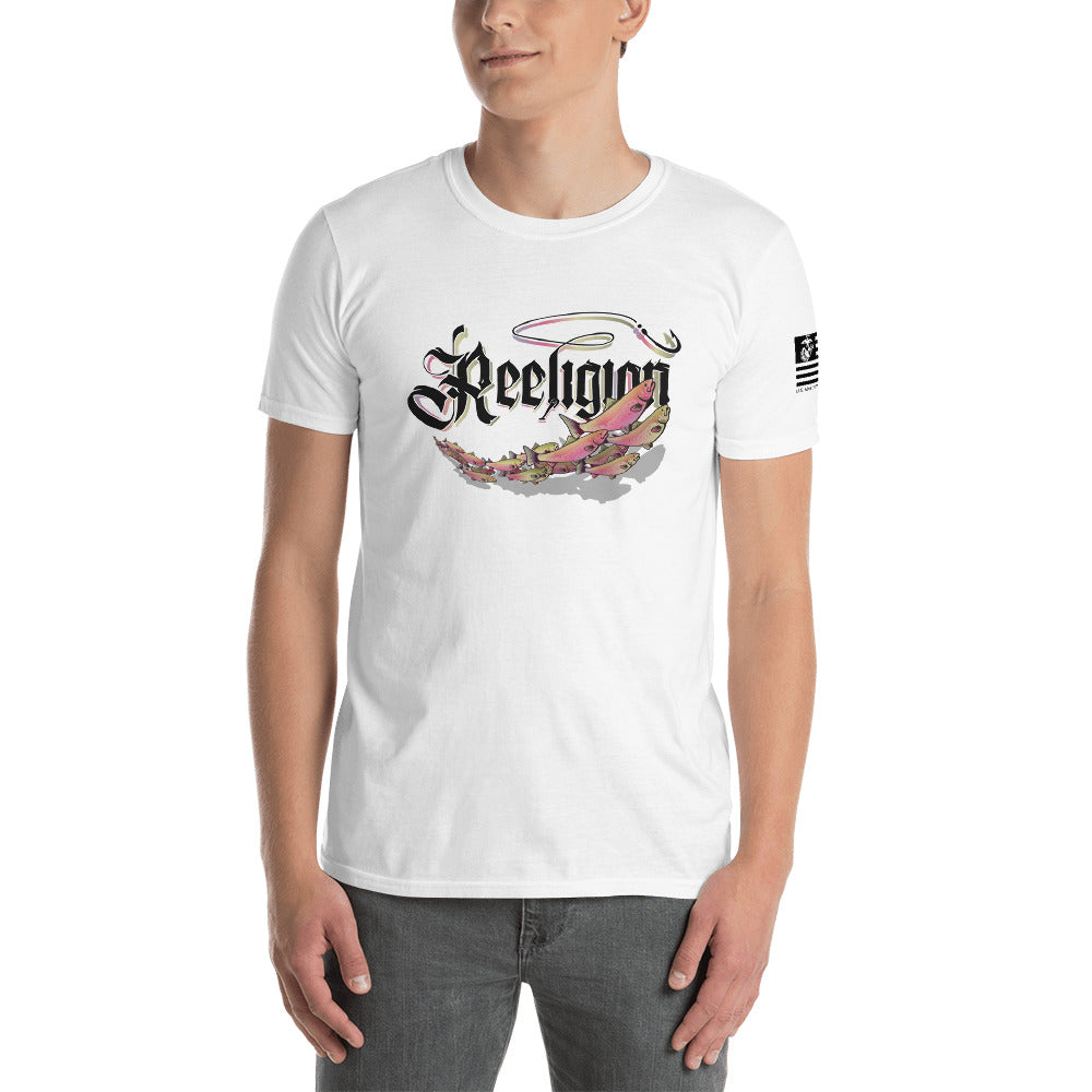 Rainbow Trout School White Tee - Reeligion