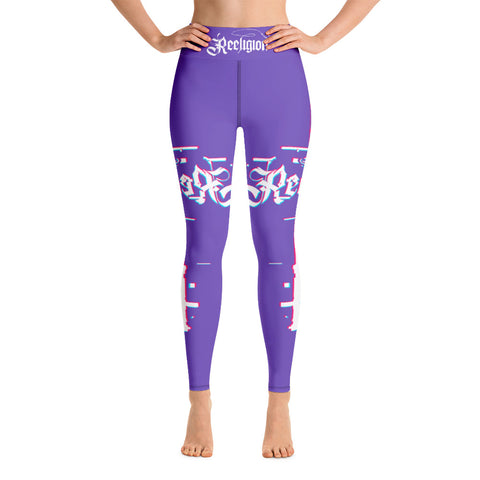 Royal Purple 3D Fishing Pole Hi Rise Leggings