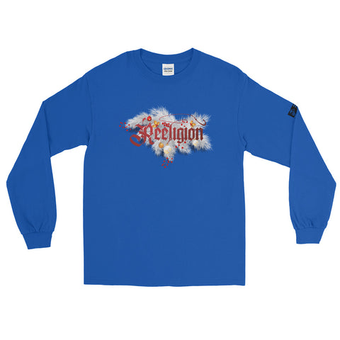 Reeligion Xmas Unisex Long Sleeve Shirt Blue - Reeligion