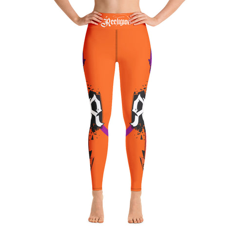 Tiger Orange Spear Fishing Hi Rise Leggings