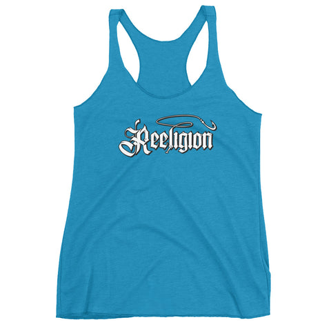 Ladies' Triblend Racerback Fishing Tank Top - Reeligion