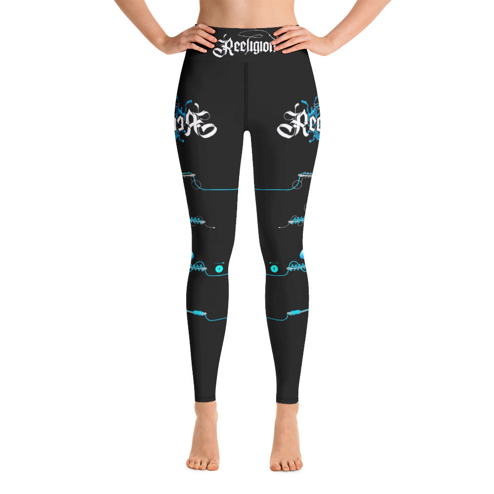 Black Licorice Learn Your Knots Hi-Rise Womens Fishing Leggings