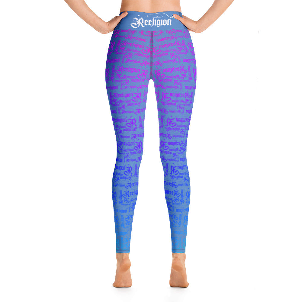 Rainbow Pattern Hi Rise Fishing Leggings