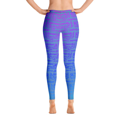 Blue Sky Rainbow Pattern Fishing Leggings - Reeligion