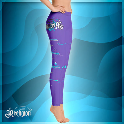 "Royal Purple ""Learn Your Knots"" Fishing Leggings - Reeligion"