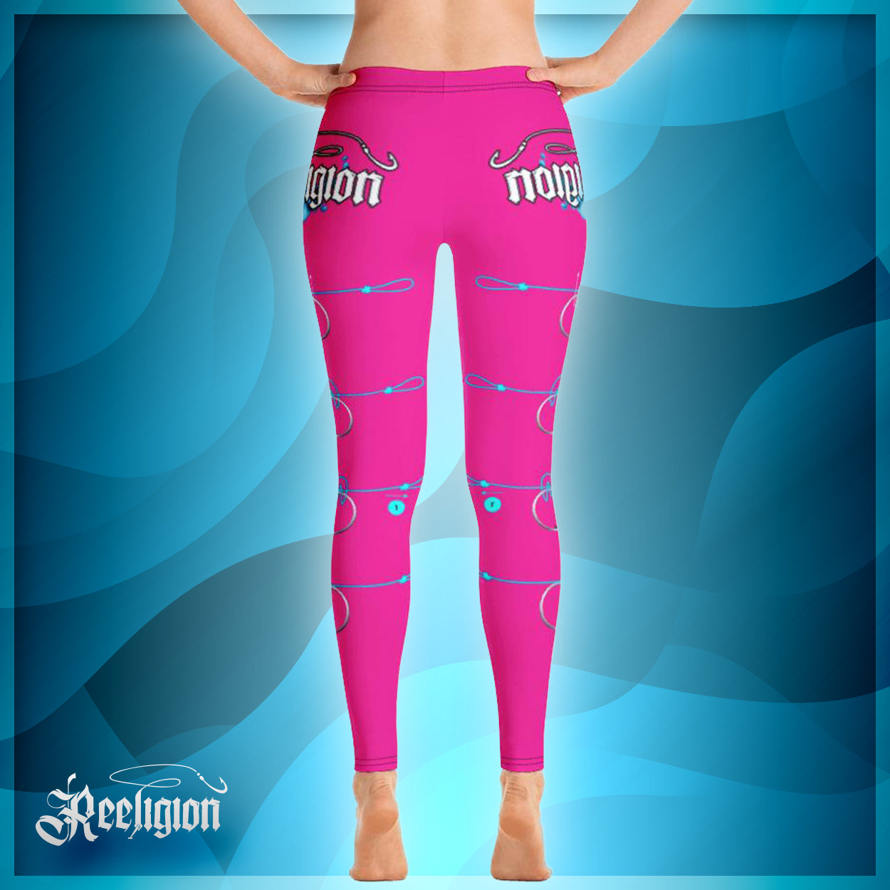 "Sassy Pink ""Learn Your Knots"" Fishing Leggings"