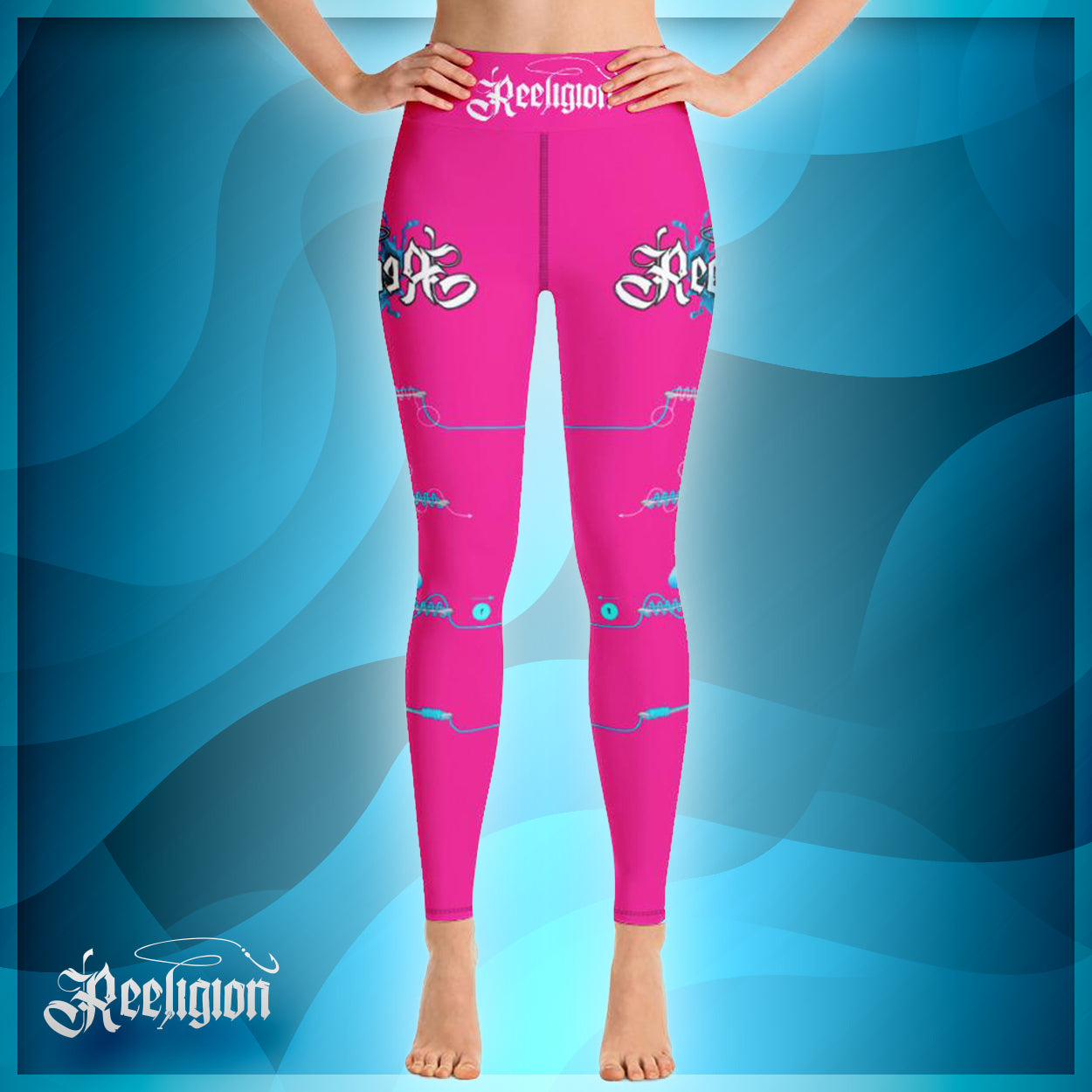 "Sassy Pink ""Learn Your Knots"" Hi-Rise Leggings"