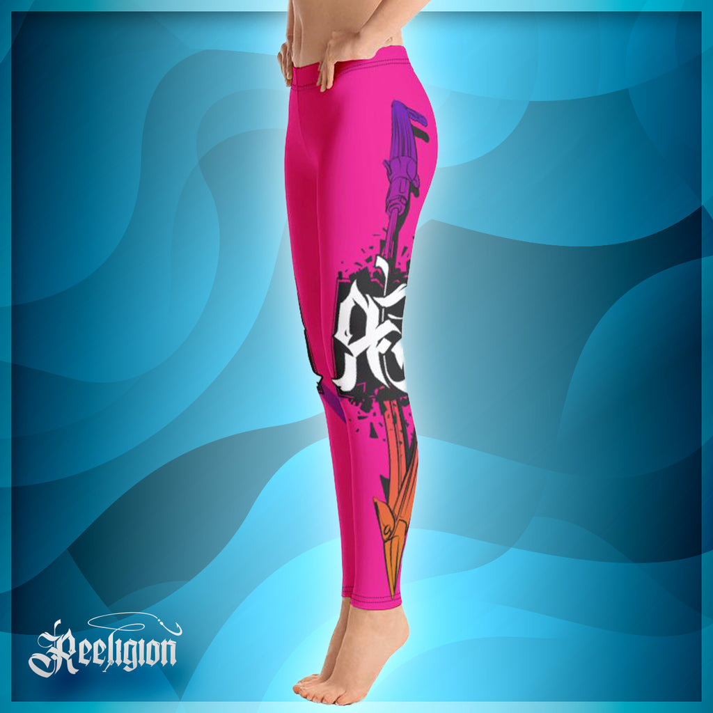 Sassy Pink Spear Fishing Womens Leggings