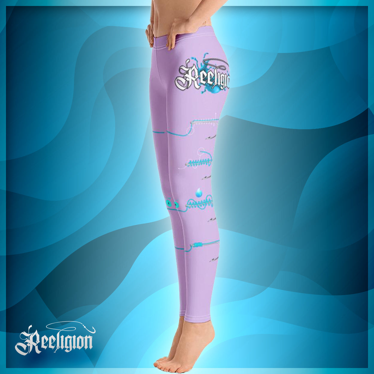 "Sweet Lilac ""Learn Your Knots"" Fishing Leggings"