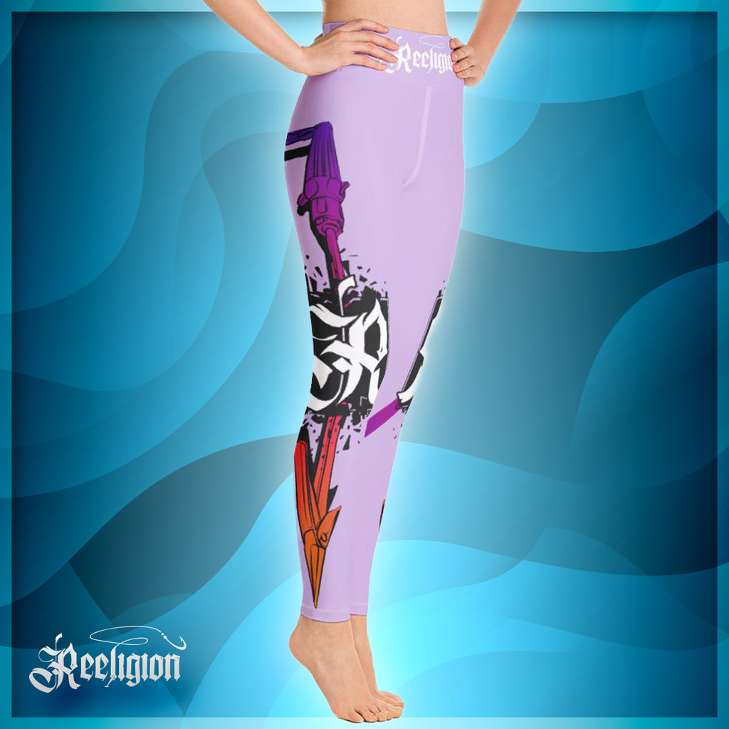 Sweet Lilac Spear Fishing Hi Rise Leggings
