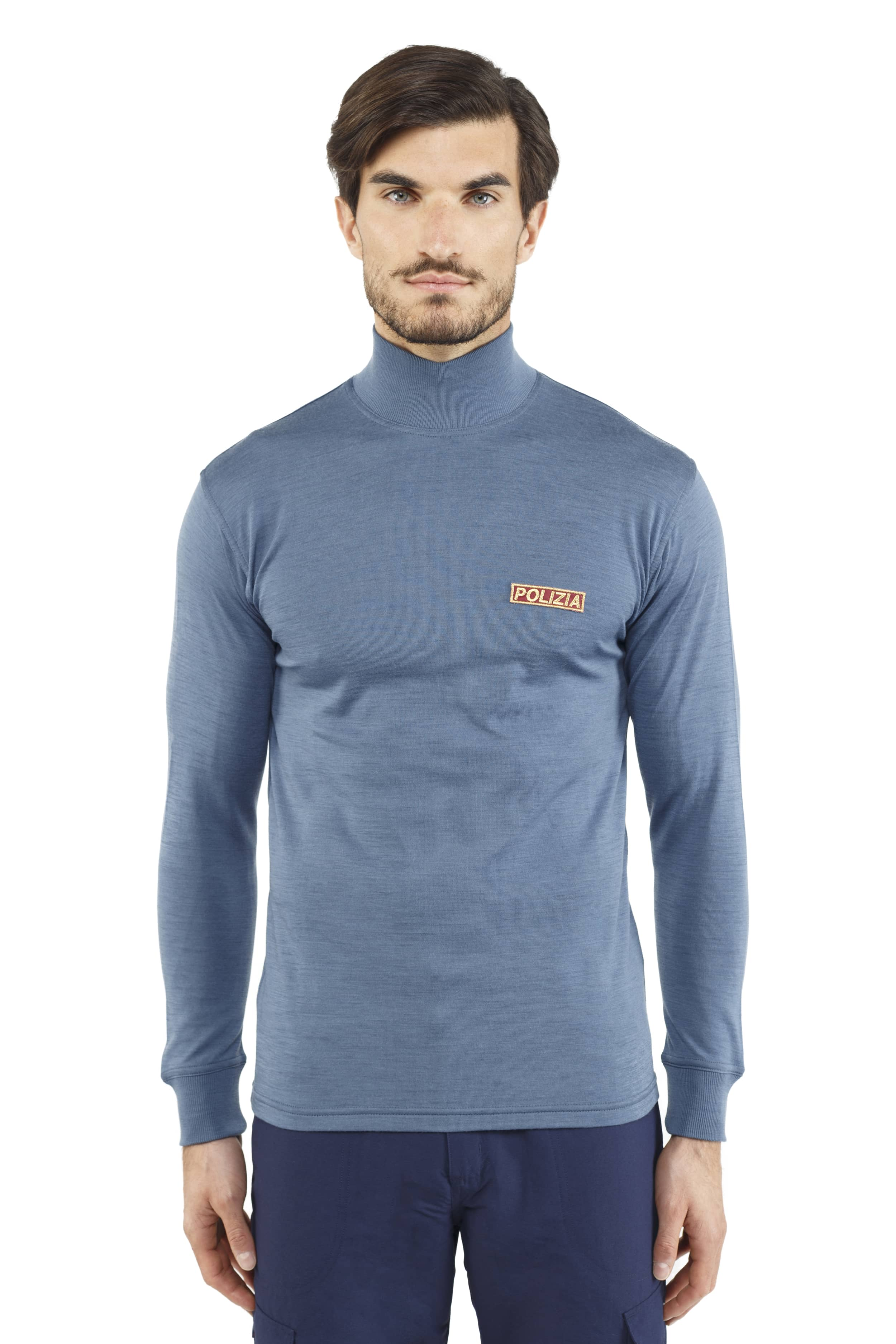 POLICE WARM MOCK-NECK SWEATER