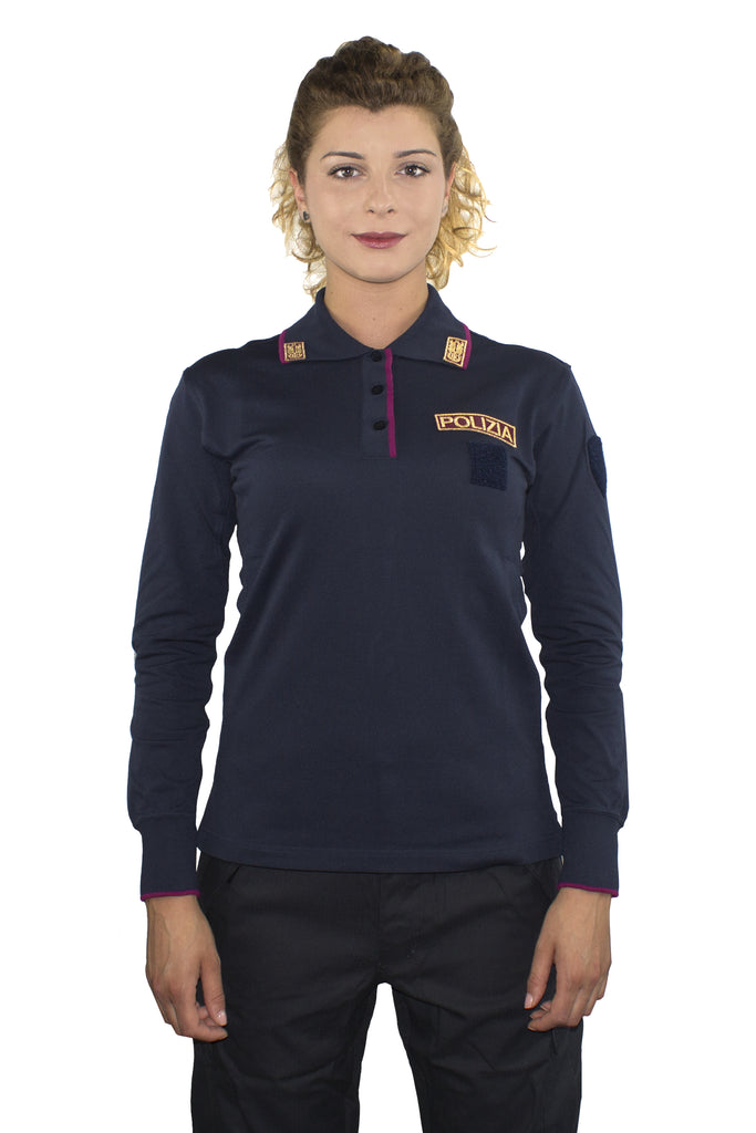 POLICE LONG SLEEVE POLO WOMAN