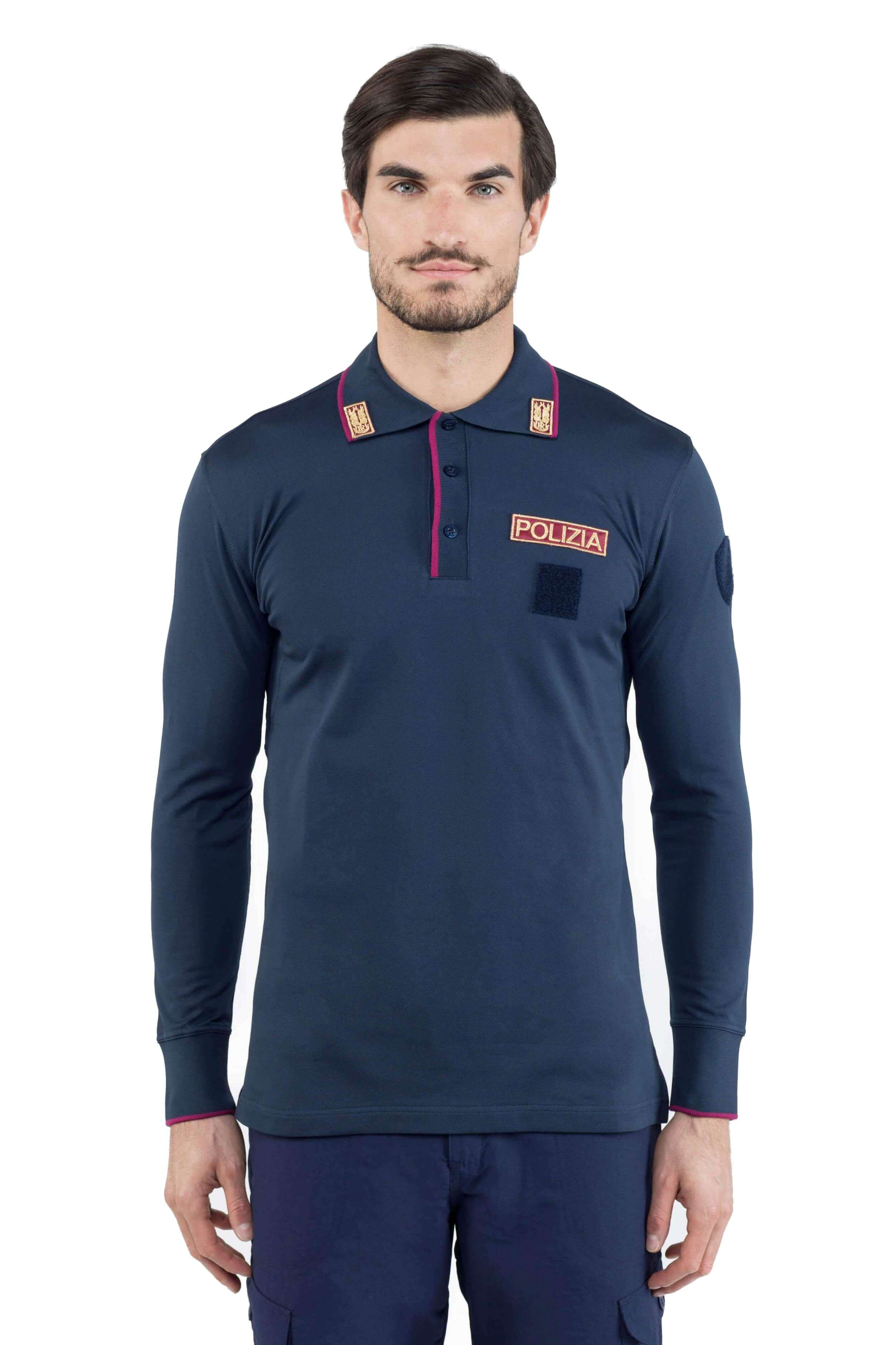 POLICE LONG SLEEVE POLO