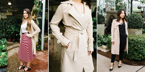 trench coat, wear to work, camel colored trench coat