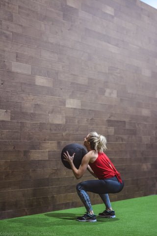 Women's Fitness Medicine Ball Workout