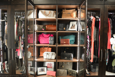 Luxury Handbag Storage in a Custom Closet
