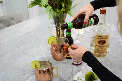 Moscow Mule Variations Using Cranberry and Crabbies Ginger Beer