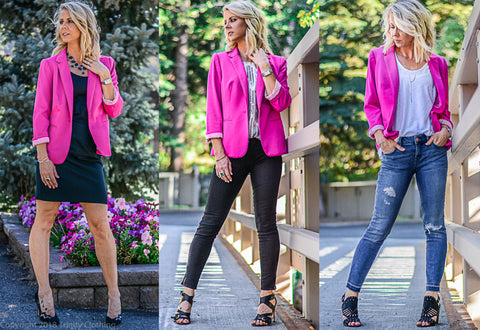 Three ways to wear women's blazers