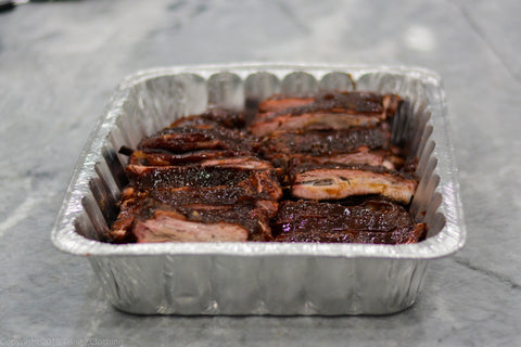 Serving Smoked Pork Ribs