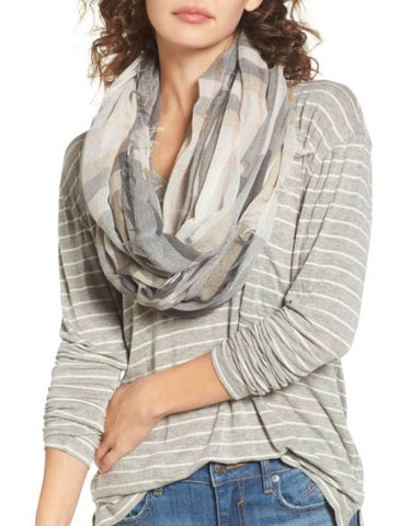 Light Plaid Infinity Scarf