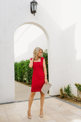 Angie Square Neck Dress by Cupcakes and Cashmere