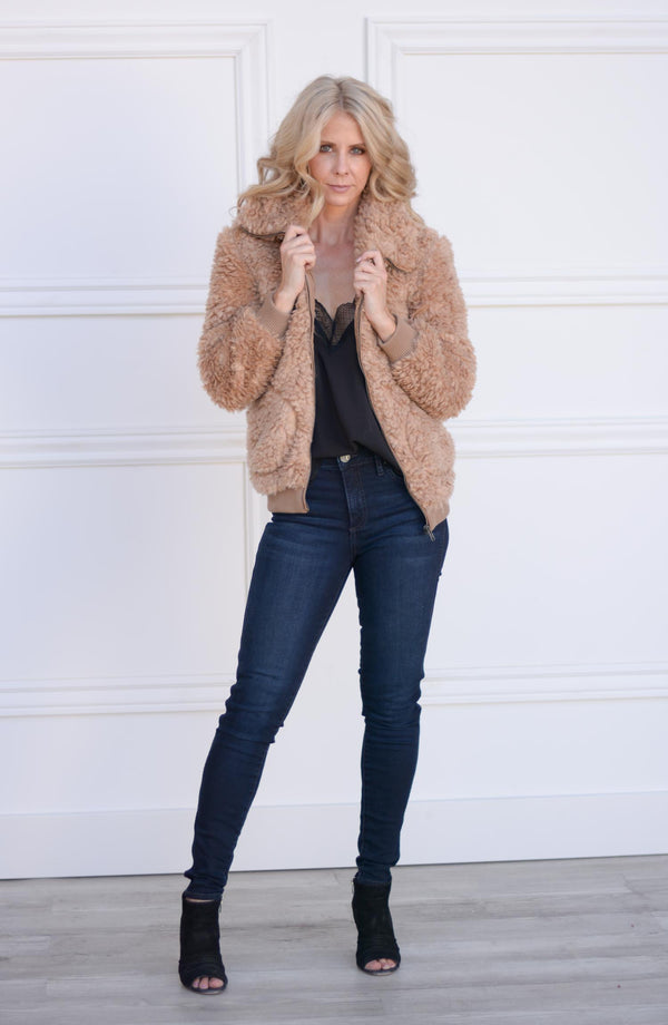 Teddy or Not Faux Fur Bomber