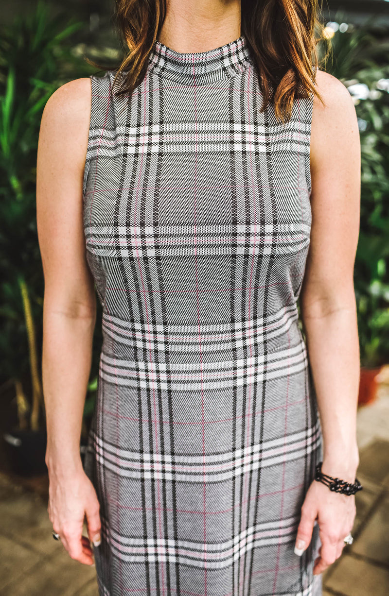 Leota Alyssa Plaid Dress Trinity Clothing