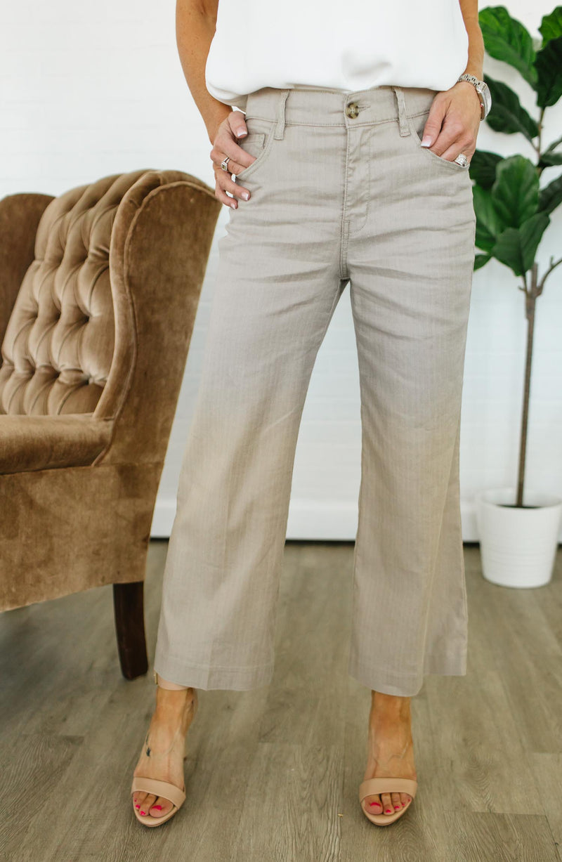 Level 99 Anabelle Cropped Wide-leg Trouser Trinity Clothing