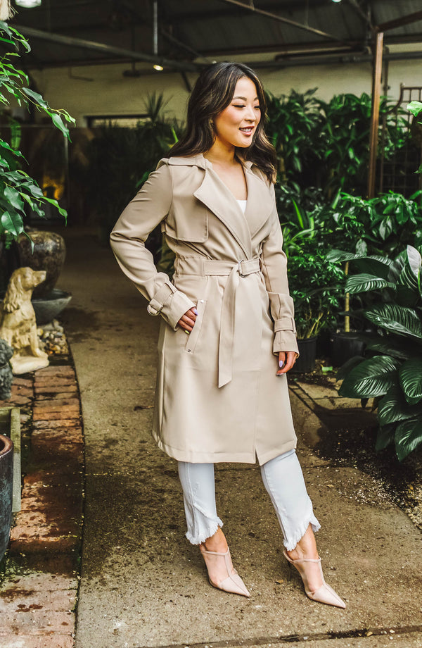 The Audrey Belted Trench Coat Trinity Clothing