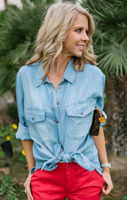 Sanctuary Boyfriend for Life Denim Shirt Trinity Clothing