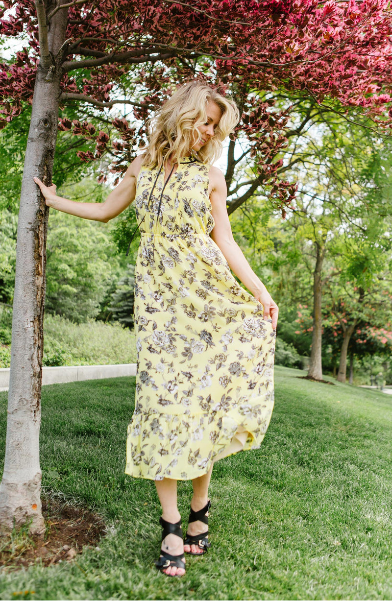Kensie Canary Sunset Midi Trinity Clothing