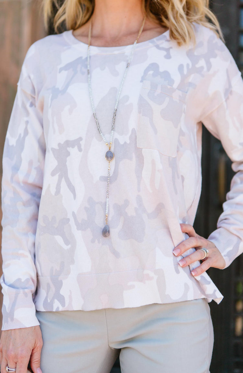 Sanctuary Charming Camo Long-Sleeve Trinity Clothing