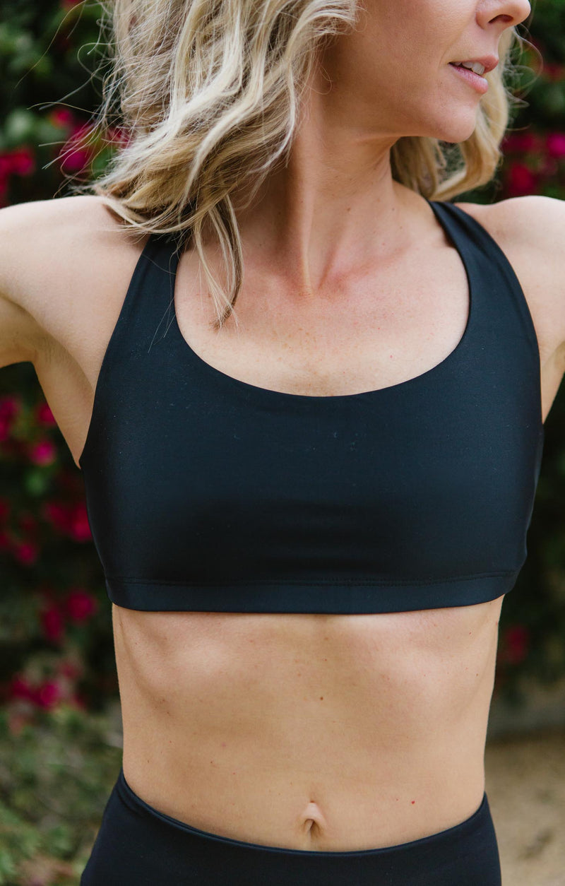 Onzie Black Chic Sports Bra Trinity Clothing
