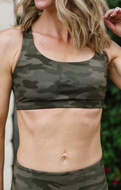 Onzie Camo Chic Sports Bra Trinity Clothing