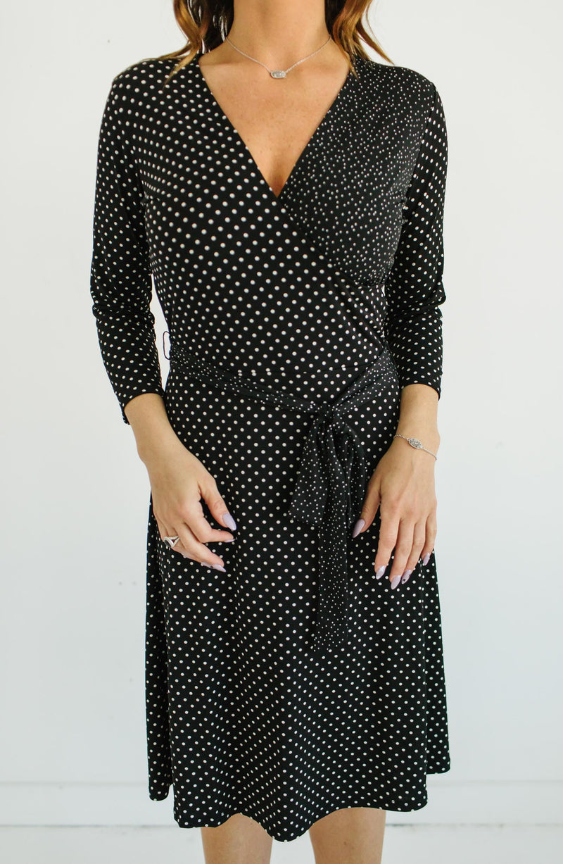 Leota Classic Dot Wrap Dress Trinity Clothing