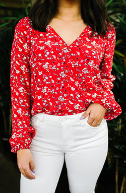 Cori Floral Blouse Trinity Clothing