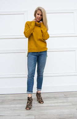 Dijon Cable Knit Sweater