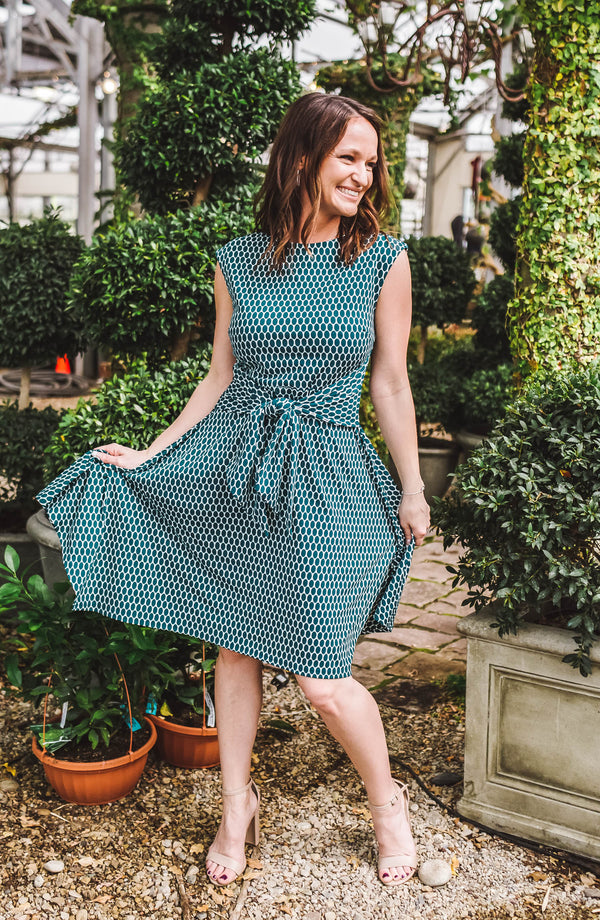 Ellipse Green Midi Dress Trinity Clothing