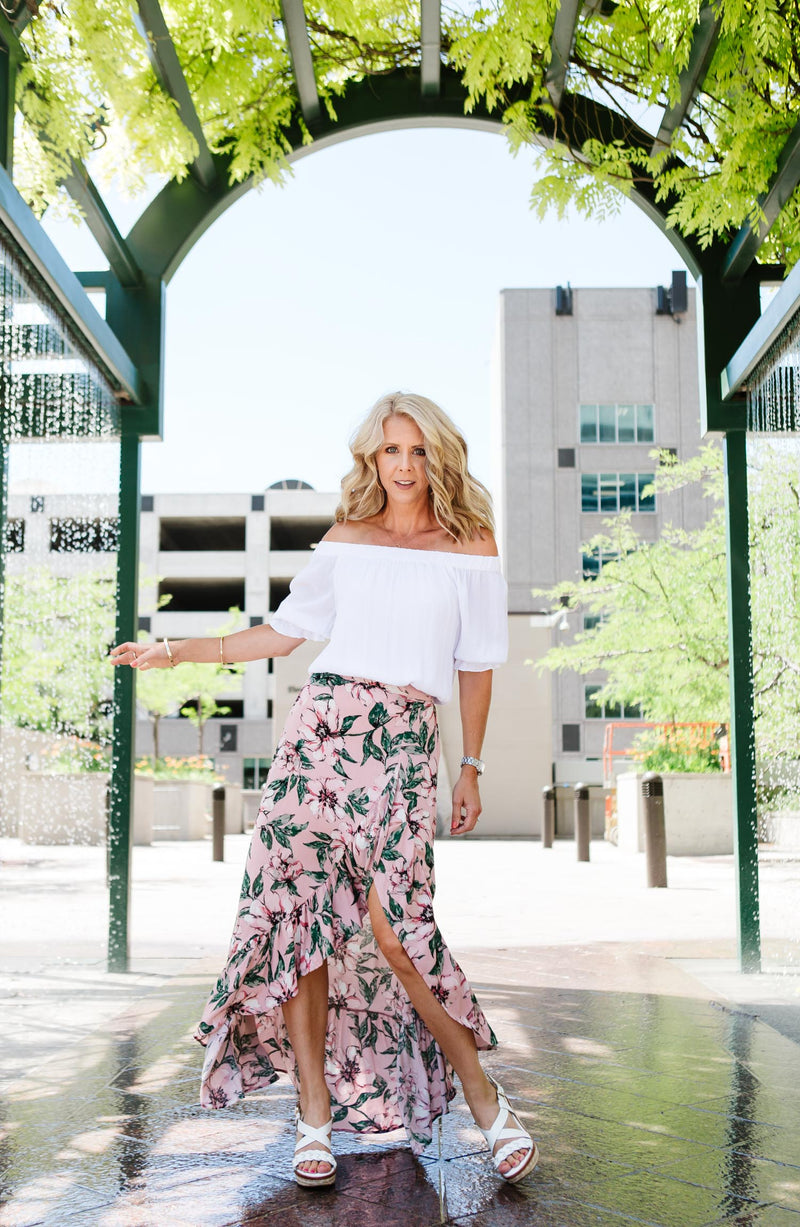 Haole Floral Wrap Maxi Skirt Trinity Clothing