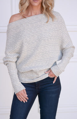 Heather Off-The-Shoulder Sweater