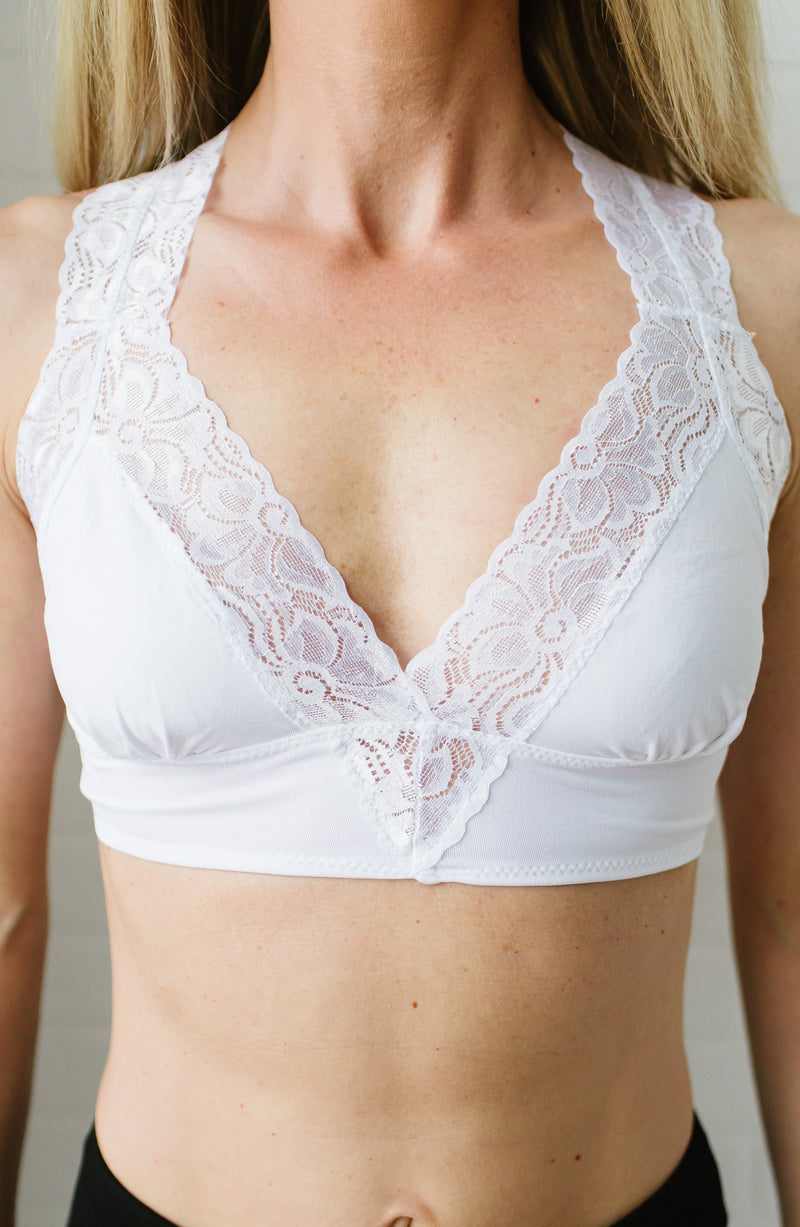 White Lace Bralette Trinity Clothing