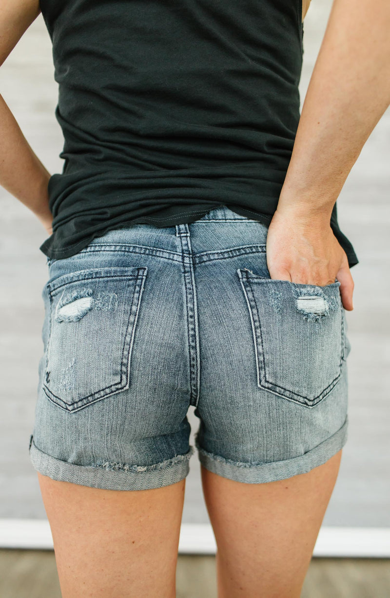 Madeline Boyfriend Distressed Denim Short Trinity Clothing