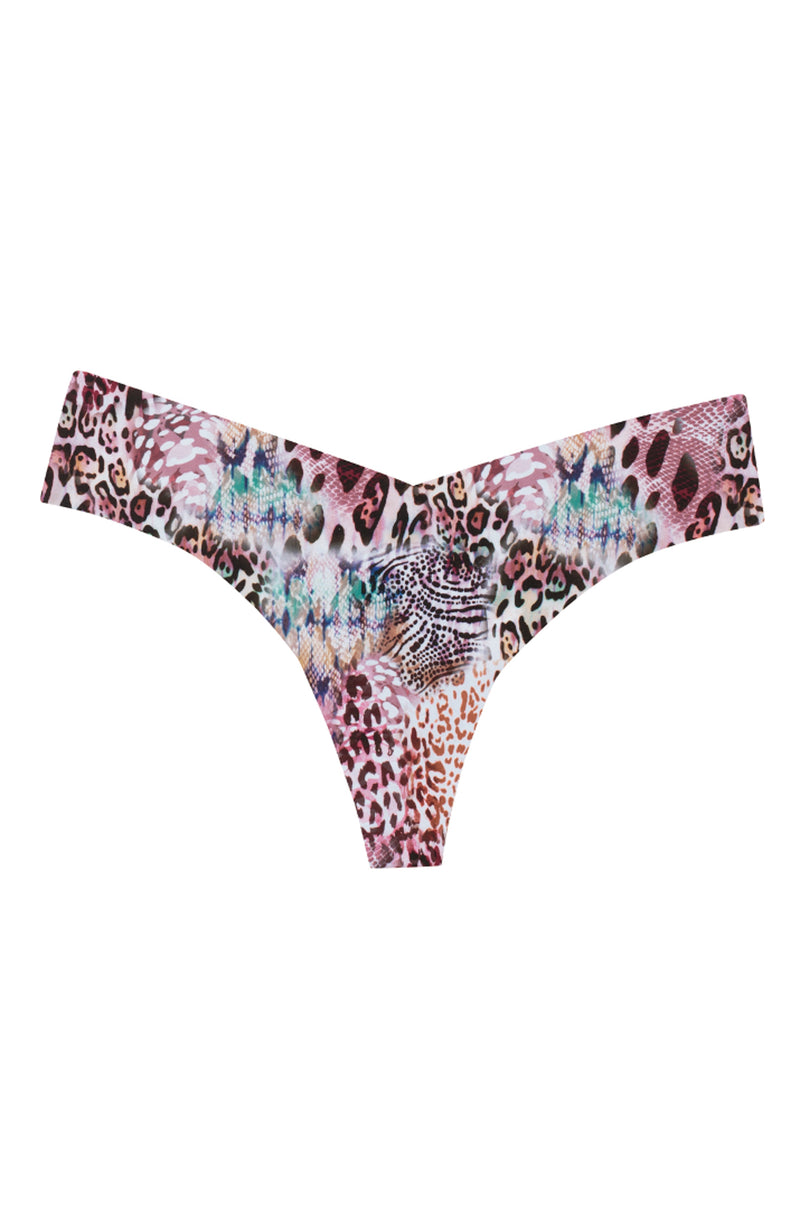 Amazon Print Microfiber Thong Trinity Clothing