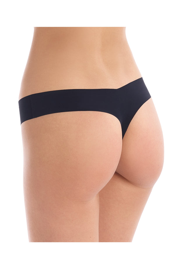 Black Microfiber Thong Trinity Clothing