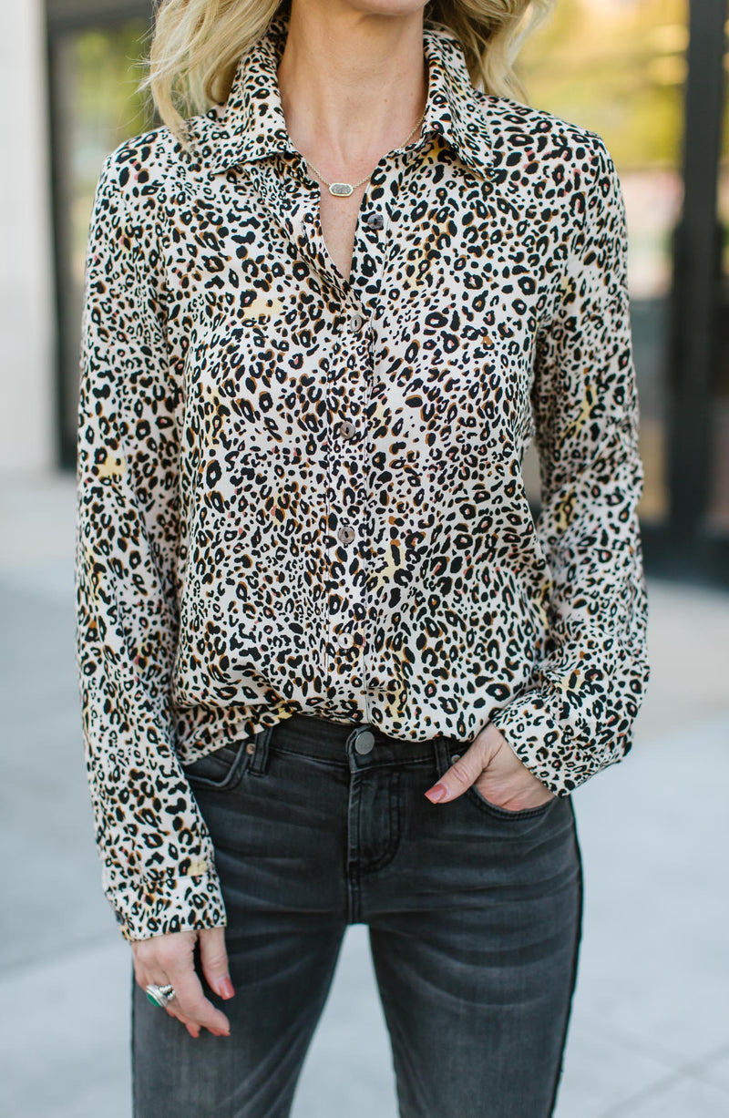 Panther Leopard Printed Blouse